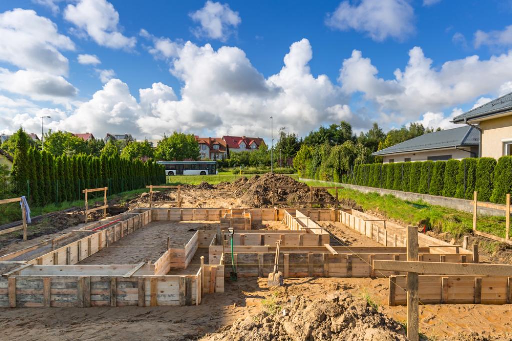 Drewniane fundamenty domu jednorodzinnego
