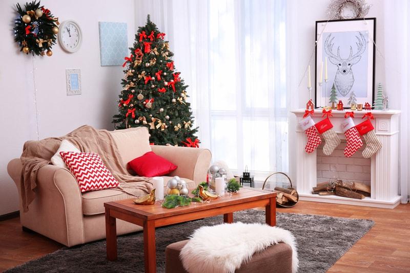 mieszkanie udekorowane na święta