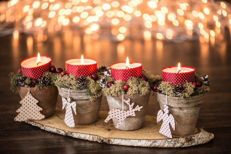 świeczki udekorowane naświęta