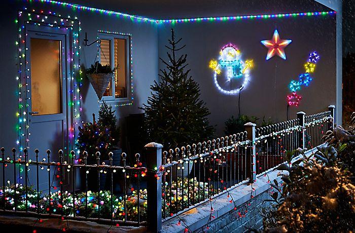 Dekoracje świąteczne na balkon