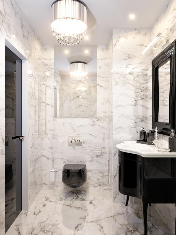 luksusowa łazienka wstylu art deco
