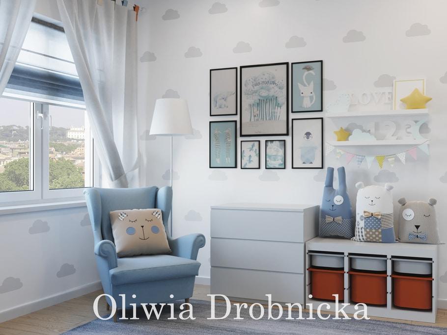 niebieski pokój dziecięcy