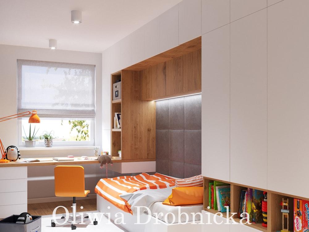 pomarańczowy pokój dladziecka