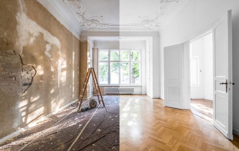 remont starego domu - przed i po