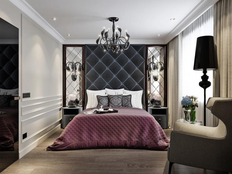 sypialnia urządzona wstylu art deco