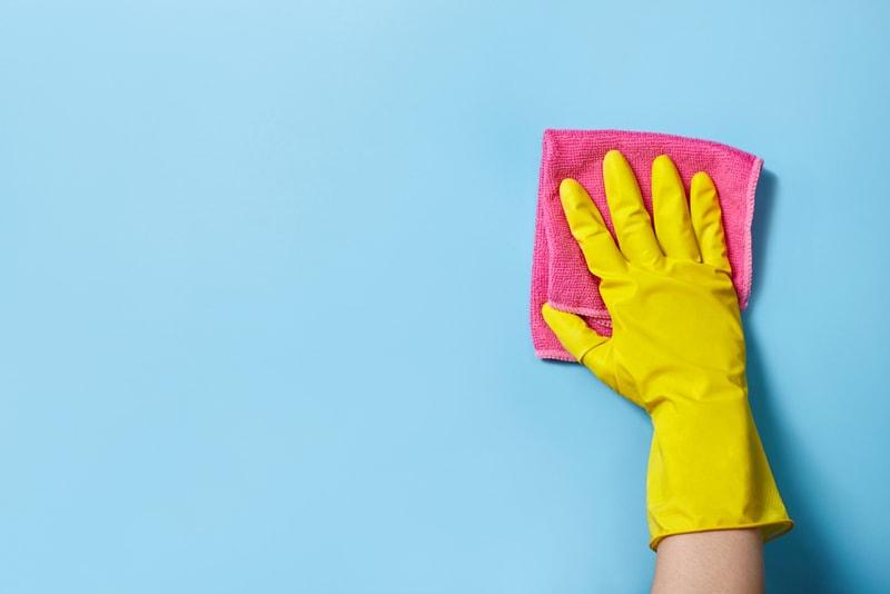 przygotowanie ściany domalowania - mycie