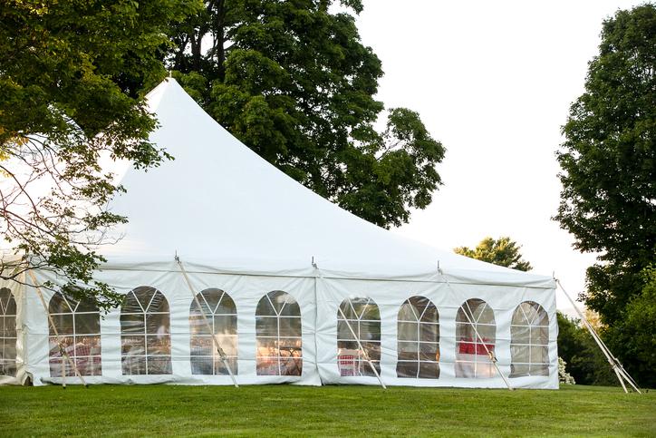 namiot naślub wogrodzie