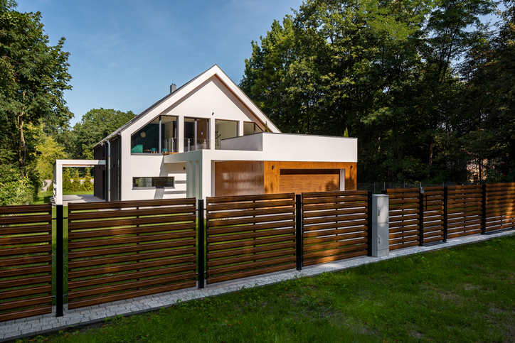 ogrodzenie panelowe drewniane